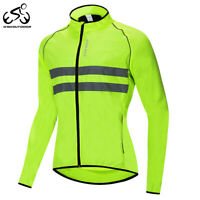 Windproof Mens Cycling Jackets Reflective MTB Bike Bicycle Sports Jersey Hi-Vis