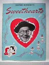 SWEETHEARTS Souvenir Program BOBBY CLARK / MARJORIE GATESON / MARK DAWSON 1947