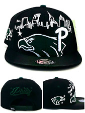 Philadelphia New Leader Skyline Eagles Colors Black Green Era Snapback Hat Cap