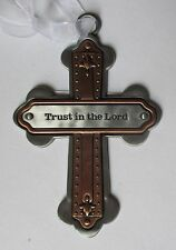 OD Trust in the Lord Cross CROSSES OF FAITH ORNAMENT Ganz Car Charm