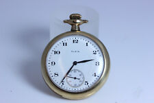 "Tri-Color Vintage Gold Filled Elgin Pocket Watch Hunter Watch 2-9/16""- 5935"
