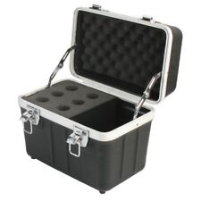 6 Microphone ABS Carrying Case Portable Road Mic Storage DJ Equipment Flight Box