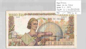 BILLET FRANCE - 10 000 Francs 07/01/1954 D6177- Fayette 50(69)
