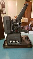 Vintage Revere S-16 Sound 16mm Movie Projector With Built in Speaker Amp in Case