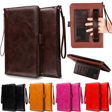 Smart Handle Strap Leather Wallet Case Cover For iPad 4 5 6th Gen/Air 2/Pro/Mini