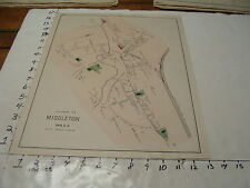 """1800's MASSACHUSETTS TOWN MAP aprox 13"""" X 16"""": MIDDLETON 15 rods=1 inch"""