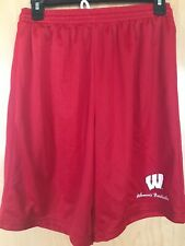 Under Armour Basketball Shorts-University of Wisconsin-Red, Women's M