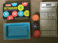CLASSIC RARE VINTAGE OCTAGRAM GAME  1970s Card Game, 43 Letters & Rules