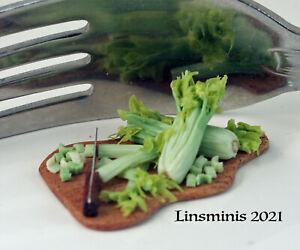 12th Scale Handmade Dollhouse Miniature *Just Celery*....IGMA Fellow