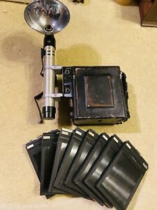 Vintage Graflex Speed Graphic 4x5 Large Format Camera w/ Linhof F4.7/127mm Lens
