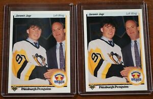 2 Jaromir Jagr Upper Deck Rookie Cards 1990-91 Pittsburgh Penguins Hockey 356