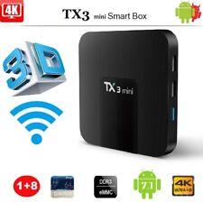 TX3 Mini Android 7.1 TV Box 4K 1GB 8GB S905W 3D HD Wifi RJ45 Media Player X3P6L