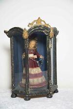 Louis Seize Glasvitrine m. Christkind Wachsfigur Klosterarbeit Volkskunst um1780