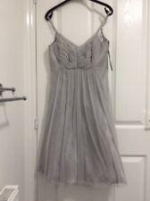 BNWOT Nicholas Millington Silver Grey  party Dress Size 12   Worn Once