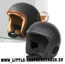 TITAN Retro / Beretto Kulthelm Skorpion Harley Chopper Jet Helm schwarz/braun