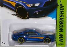 HOT WHEELS '15 Ford Mustang GT Blue Col. #247/250 2015 NEW