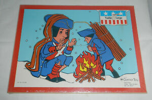 Vintage 1971 Connor Toy Valley Forge Wood Wooden 12 Piece Puzzle