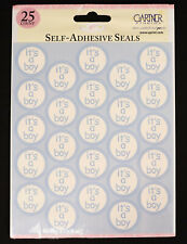 Gartner Studios Self-Adhesive Seals Stickers It's A Boy Birth Announcement Baby