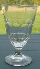 Verre à absinthe en verre taillé, 12 pans, boule creuse. XIXe s