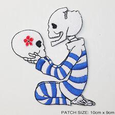 "Hamlet, ""Alas, Poor Yorick..."" Theme Skulls Iron-On Patch - UK, Free Post, #3U03"