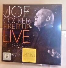CD + DVD JOE COCKER  FIRE IT UP  Perform. Videos 2-disc+Poster Sealed Box Rare