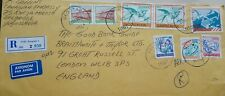 YUGOSLAVIA 1990 INFLATION COVER WITH 298,000 DINARS IN 8 STAMPS + AIRMAIL LABEL