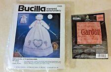 Lot Of 2 Bucilla Kits Keepsake Doll With Guardian Angel & Bucilla Garden