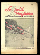 TINTIN LE PETIT TWENTIETH no.23 9 june 1938 STRATONEF H22 HERGé SUPERB CONDITION