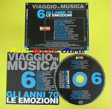 CD VIAGGIO IN MUSICA 6 compilation PROMO 04 DALLA CHIC COCCIANTE (C4) no mc lp