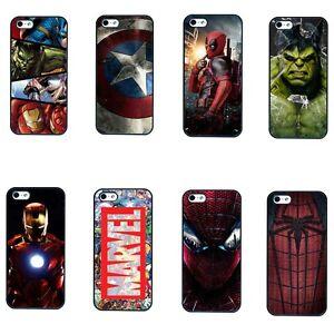 Superhero Marvel IronMan Hulk Spiderman Deadpool Avenger iPod Phone Case 4 5 6 7