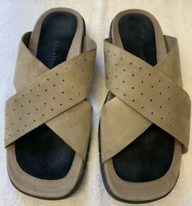 COLE HAAN COUNTRY AIR TECHNOLOGY LEATHER CROSS BAND SANDALS MENS SIZE 11.5 NICE!