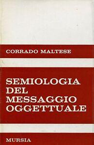 Corrado Maltese SEMIOLOGIA DEL MESSAGGIO OGGETTUALE