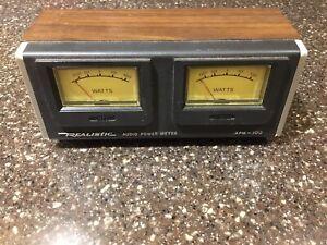 Radio Shack Realistic Audio Power Meter APM100 100 Watt Scale