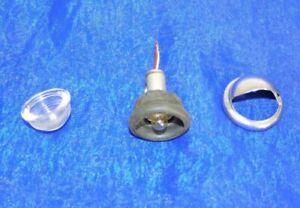 antike Kennzeichenleuchte Innenraumleuchte rund Chrom Glas 34 mm div. Oldtimer