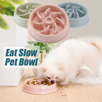 Pet Interactive Slow Eating Food Feeder Dog Cat Bowl Health Gulp Feed Dish