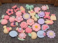 20 piezas mixtas Resina Cabujones Kawaii Lindo Decoden Artesanía encantos Flatbacks Pastel