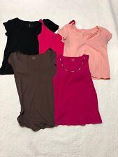 womens summer short sleeve shirt top lot 5 pieces size M