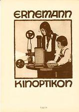 1926 Hohlwein 37/38 Ernemann 20x28 cm Doppelseite orig. Kunstdruck