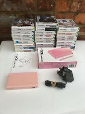BOXED NINTENDO DS LITE CONSOLE PINK HANDHELD SYSTEM UK PAL WITH 25 Games Bundle