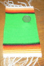 Serape Blanket Large Green 1:12 Dollhouse Mexican Miniature Rug Carpet