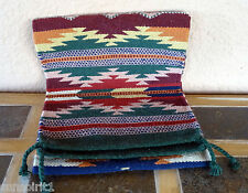 Southwestern Table Runner 29-16X80 Hand Woven Southwest Wool Geometric Design