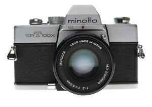 Minolta SRT100X SLR 35mm Film Camera Rokkor 1:2 50mm