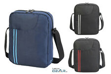 "Mens Cross Body Shoulder Bag Fits 10"" Tablet ipad Carry Case Travel Manbag"