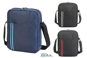 "Mens Cross Body Shoulder Bag Fits 10"" Tablet ipad Carry Case Travel Manbag"