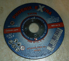 10 X Phoenix Extra Thin Cutting Disk Inox Cut off Wheel 100 x 1.2 x 16mm Abracs
