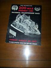 1967 USAC Tony Bettenhausen 200 mile race with 3 Autographs on Program