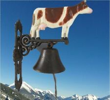 Wandglocke Gußeisen Kuh Bauernhof Tor Klingel Gescher klingt gut Vintage Deko