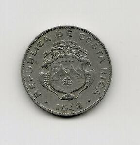 World Coins - Costa Rica 25 Centimos 1948 Coin KM# 175