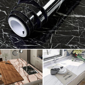 Self Adhesive Vinyl Wallpaper Worktop Cover Kitchen Table Stickers Wrapping Film