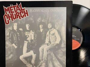 Metal Church – Blessing In Disguise LP 1989 Elektra – 960 817-1 EX/NM UK